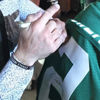 Thumbnail of Chad Owens Signing the Jersey