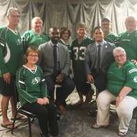 Thumbnail of Our Group with Kevin Glenn and Chad Owens